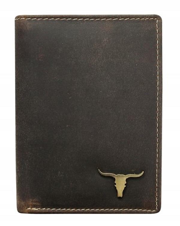 Чоловічий шкіряний гаманець коричневий 496