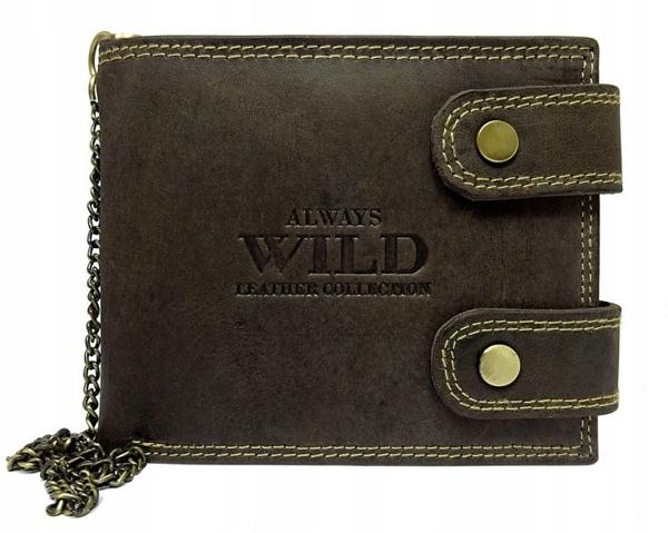 Чоловічий шкіряний гаманець коричневий 628