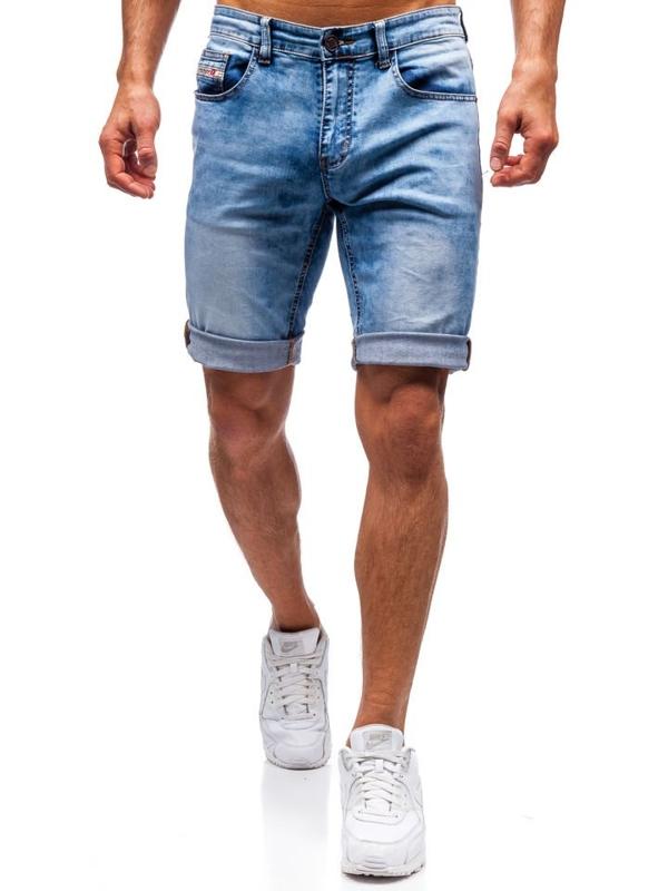 Чоловічі джинсові шорти сині Bolf 7805
