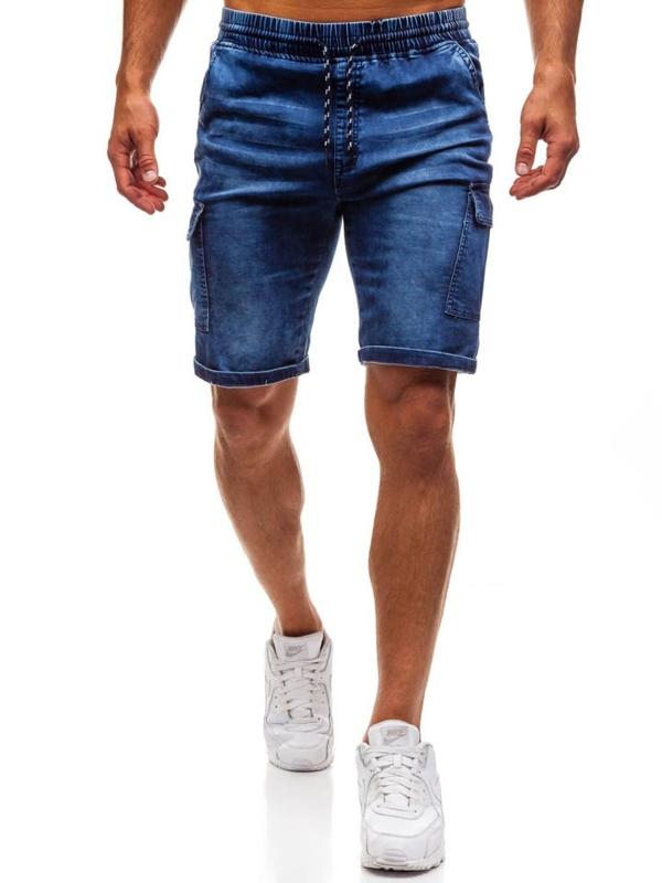 Чоловічі джинсові шорти темно-сині Bolf HY191