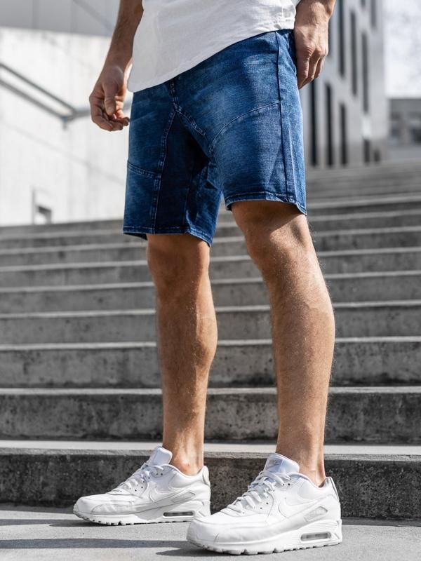 Чоловічі джинсові шорти темно-сині Bolf KK107