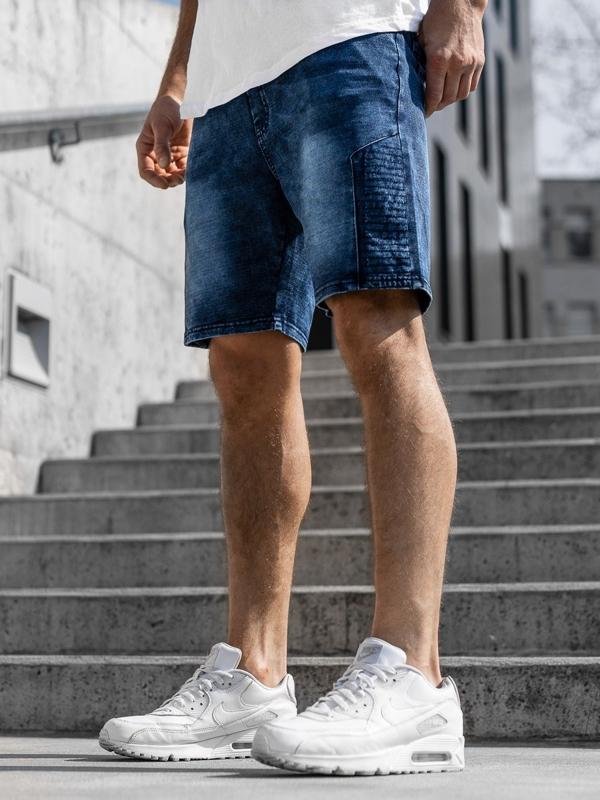 Чоловічі джинсові шорти темно-сині Bolf kk110
