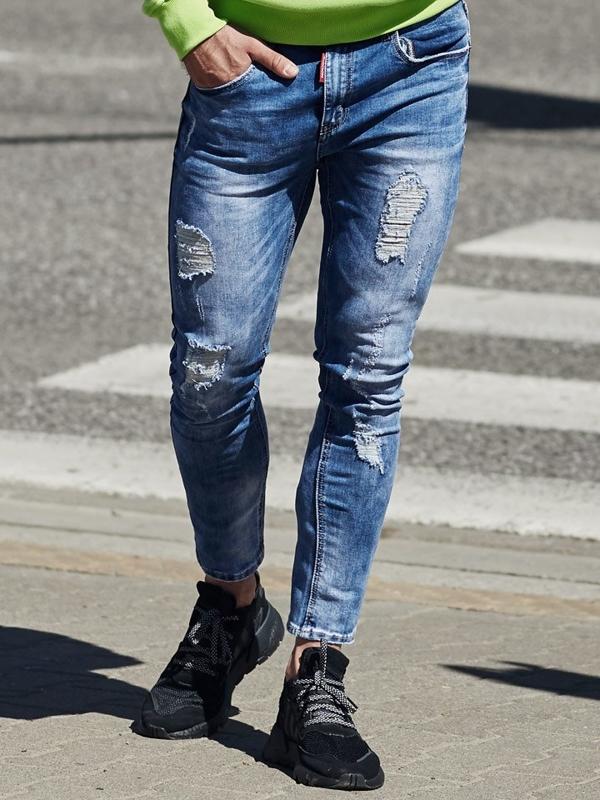 Чоловічі джинсові штани сині Bolf 3947
