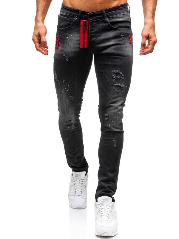 Чоловічі джинсові штани чорні Bolf 9239