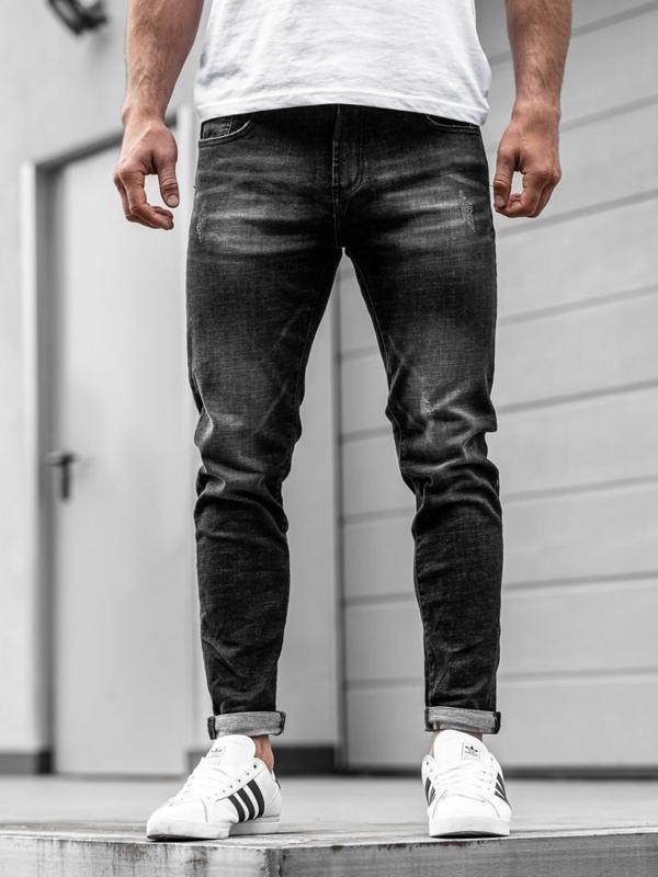 Чоловічі джинсові штани чорні Bolf KX169