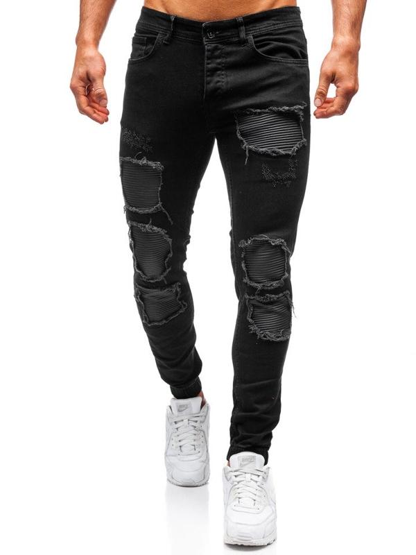 Чоловічі штани джогери чорні Bolf 820