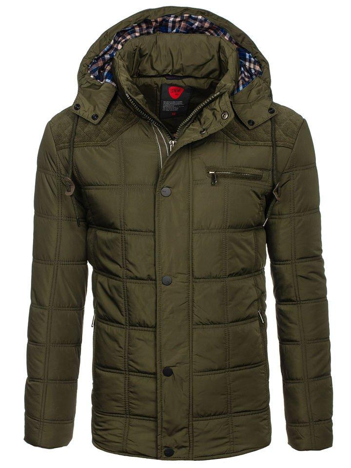 Куртка чоловіча зимова зелена Bolf 1820 ЗЕЛЕНИЙ dff9f7ab224c4