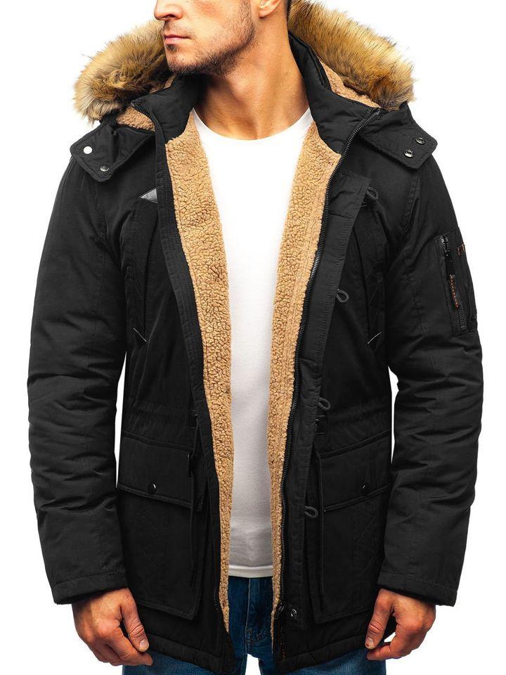 Чоловіча зимова куртка парка чорна Bolf 1071 ЧОРНИЙ e6a7e1e4234cc