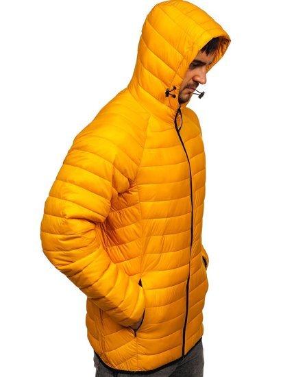 Жовта стьобана чоловіча куртка Bolf 13021