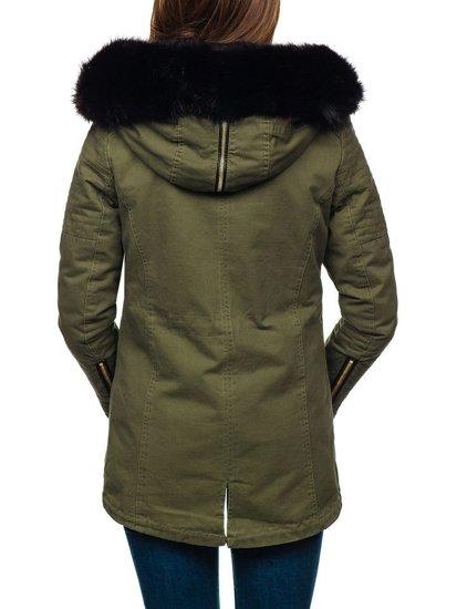 Жіноча зимова куртка зелена Bolf M16