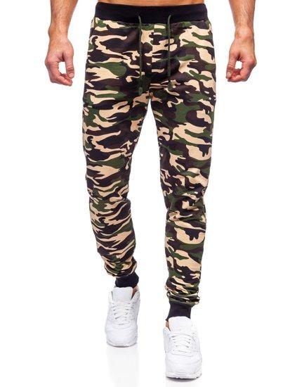Коричневі чоловічі спортивні штани камуфляж Bolf 5958