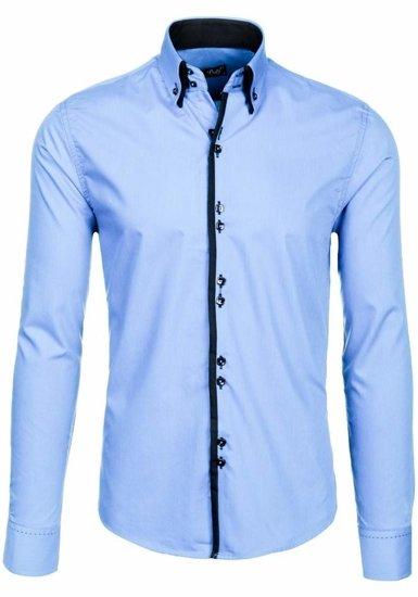 Сорочка чоловіча BOLF 1721-1 блакитна