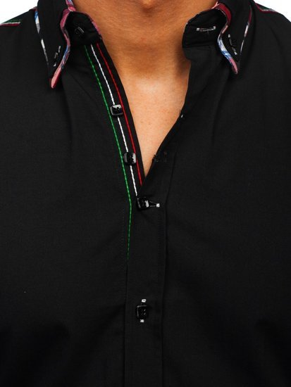 Сорочка чоловіча BOLF 2705 чорна