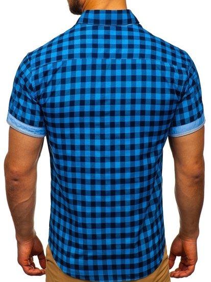 Сорочка чоловіча BOLF 4508 синя