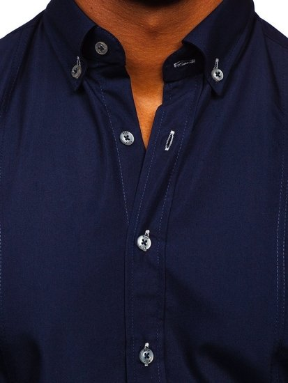 Сорочка чоловіча BOLF 5535 темно-синя