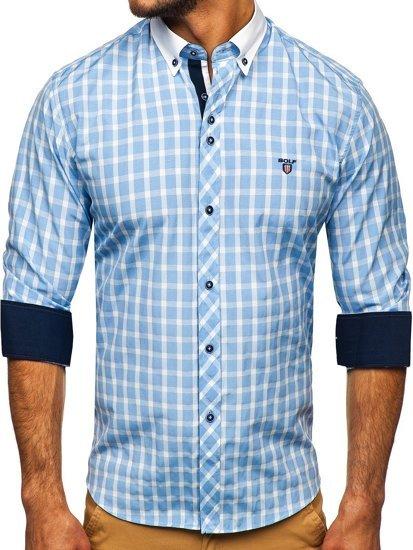 Сорочка чоловіча BOLF 5737 блакитна