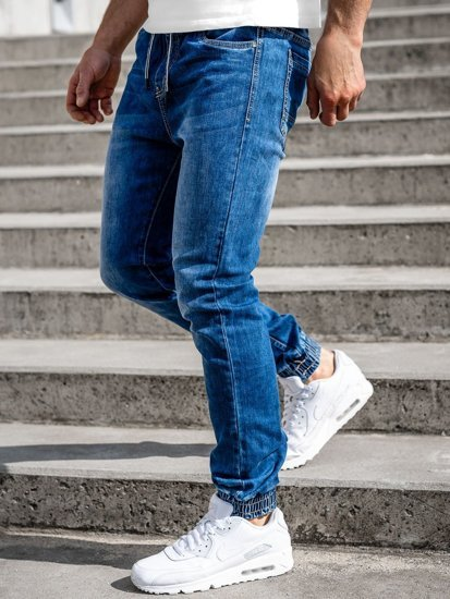 Темно-сині чоловічі джинси джоггери Bolf KA1551
