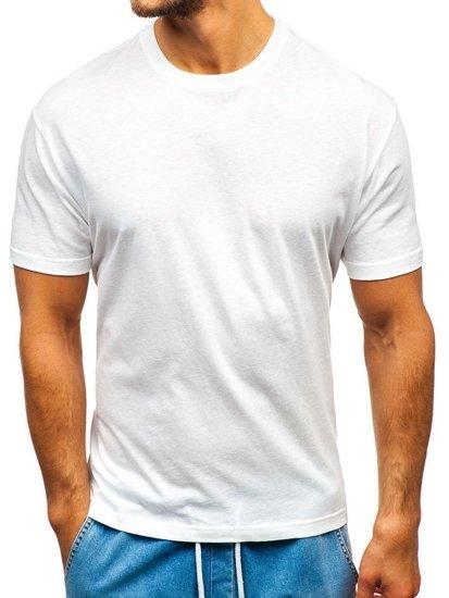 Чоловіча футболка без принта біла 3 Pack Bolf T1427-3P