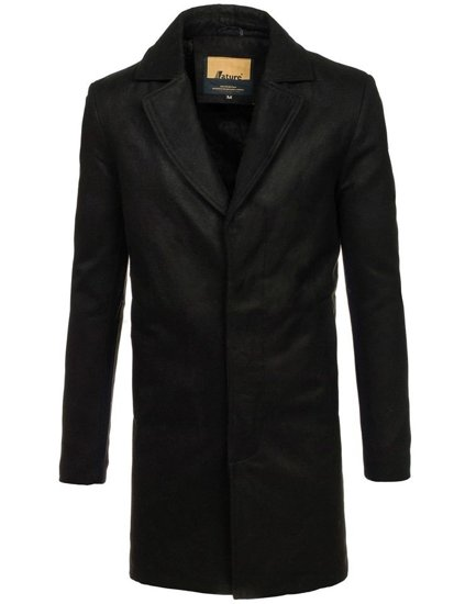 Чоловіче зимове пальто чорне Bolf 5438