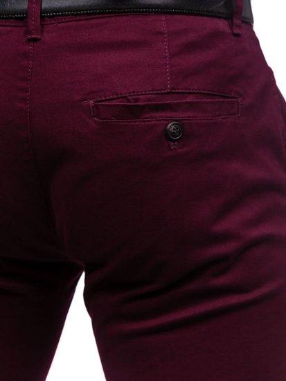 Чоловічі штани чінос бордові Bolf 1120