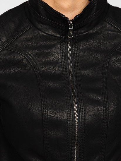 Чорна жіноча шкіряна куртка Bolf 20R8