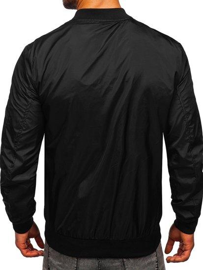 Чорна чоловіча демісезонна куртка бомбер Bolf M10291