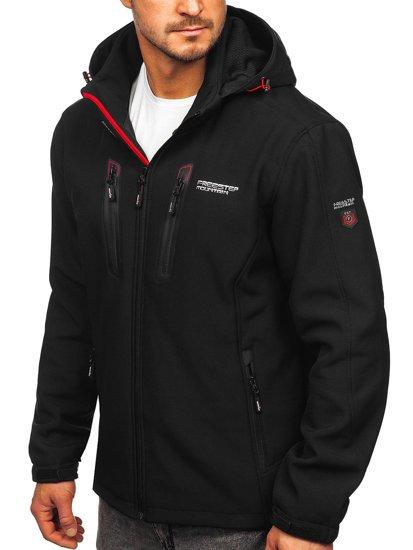 Чорно-червона чоловіча куртка софтшелл Bolf WX063d