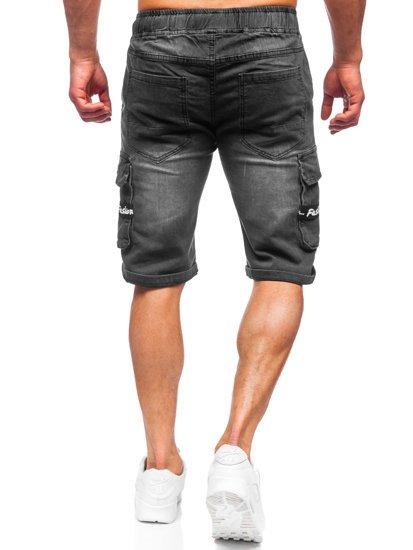 Чорні джинсові шорти чоловічі карго Bolf K15008-2