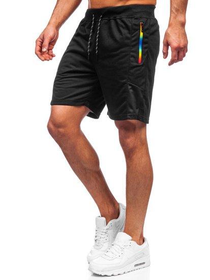 Чорні чоловічі спортивні шорти Bolf KS2559