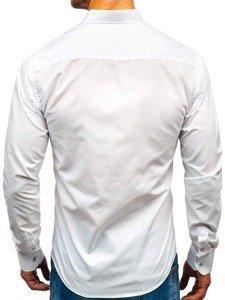 Елегантна чоловіча сорочка з довгим рукавом біла Bolf 5821