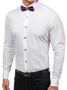 Сорочка чоловіча з метеликом BOLF 5786 біла