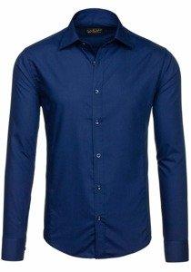 Сорочка чоловіча BOLF 1703 темно-синя