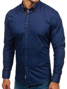 Сорочка чоловіча BOLF 4706 темно-синя