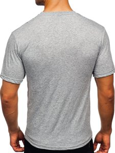 Сіра чоловіча футболка з принтом Bolf 14424