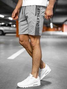 Сірі чоловічі спортивні шорти Bolf KS2577
