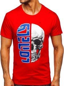 Червона чоловіча футболка з принтом Bolf Y70001