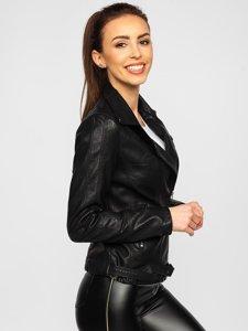Чорна жіноча шкіряна куртка Bolf 20R9