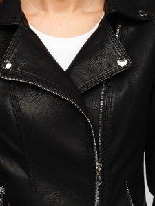 Чорна жіноча шкіряна куртка Bolf R210
