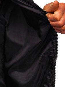 Чорна чоловіча демісезонна куртка бомбер Bolf M10298