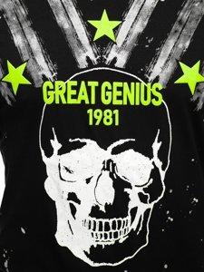 Чорна чоловіча футболка з принтом Bolf Y70006