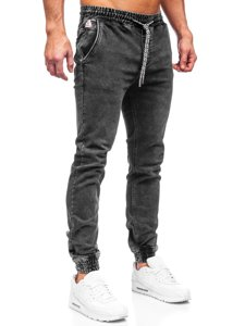 Чорні чоловічі джинси джоггери Bolf KA2191