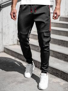 Чорні чоловічі спортивні штани карго Bolf K10283